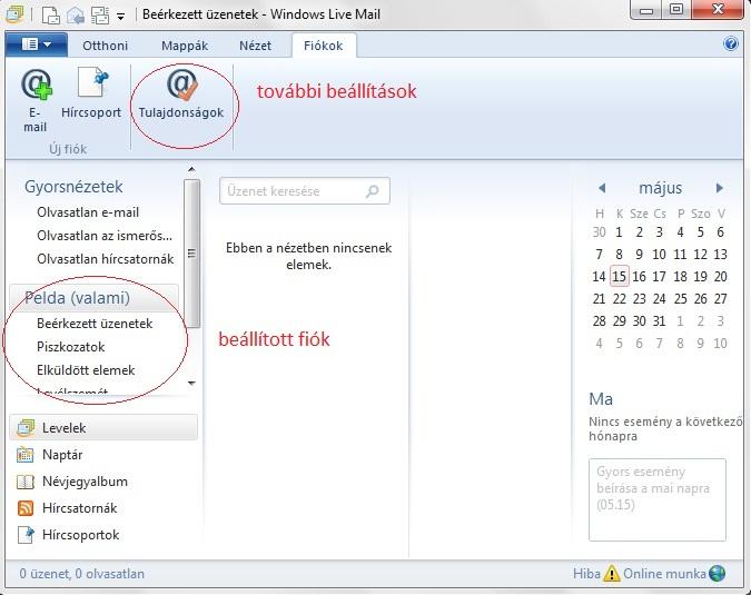 windows live naptár Windows Live Mail beállítása   FORPSI.HU windows live naptár